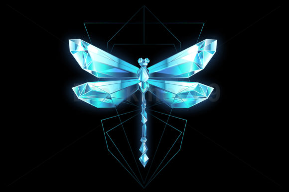 Ice Dragonfly Graphic Illustrations By Blackmoon9