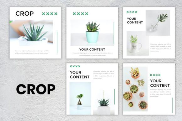 Instagram Feed - Crop Graphic Presentation Templates By listulabs