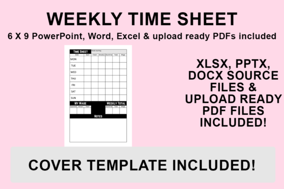 Print on Demand: KDP Interior - Weekly Time Sheet Graphic KDP Interiors By Bowes Publishing