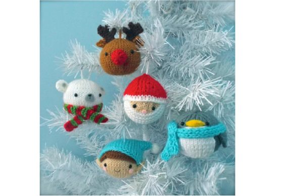 Knit Christmas Balls Ornament Pattern Grafik Knitting Patterns von Amy Gaines Amigurumi Patterns