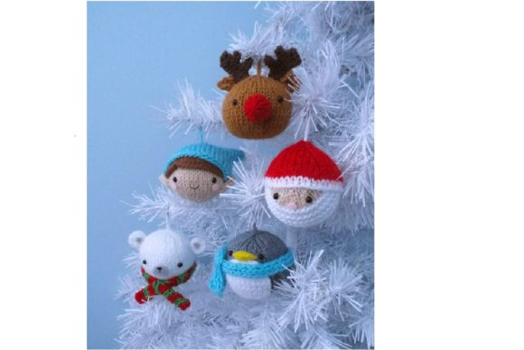 Knit Christmas Balls Ornament Pattern Graphic Knitting Patterns By Amy Gaines Amigurumi Patterns - Image 2