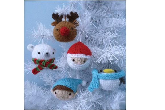 Knit Christmas Balls Ornament Pattern Graphic Knitting Patterns By Amy Gaines Amigurumi Patterns - Image 4