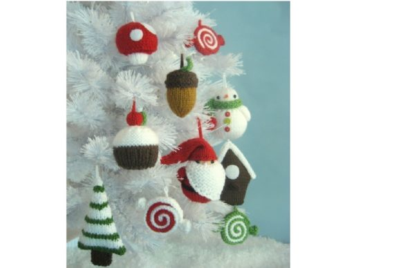 Knit Christmas Ornament Pattern Set Graphic Knitting Patterns By Amy Gaines Amigurumi Patterns - Image 2
