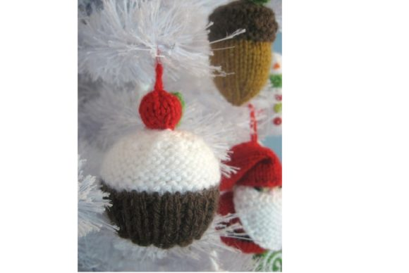 Knit Christmas Ornament Pattern Set Graphic Knitting Patterns By Amy Gaines Amigurumi Patterns - Image 4