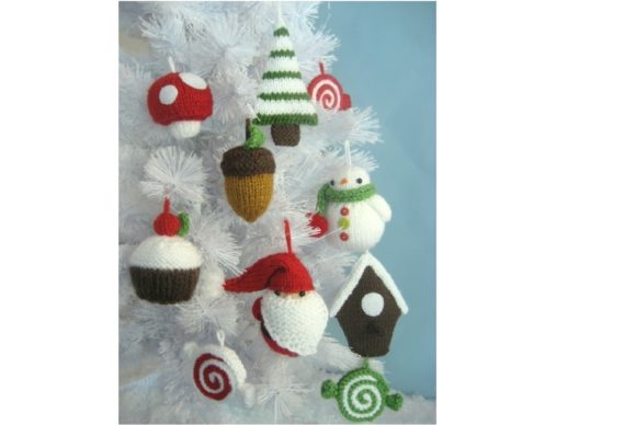 Knit Christmas Ornament Pattern Set Graphic Knitting Patterns By Amy Gaines Amigurumi Patterns - Image 5