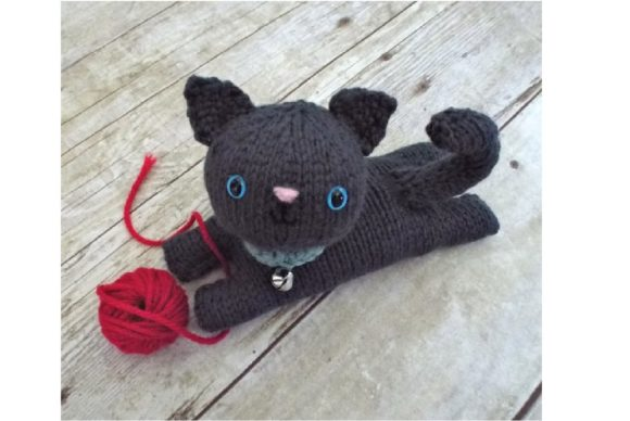 Knit Kitten Pattern Grafik Knitting Patterns von Amy Gaines Amigurumi Patterns