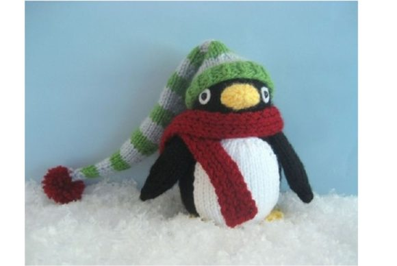 Knit Penguin Amigurumi Pattern Grafik Knitting Patterns von Amy Gaines Amigurumi Patterns