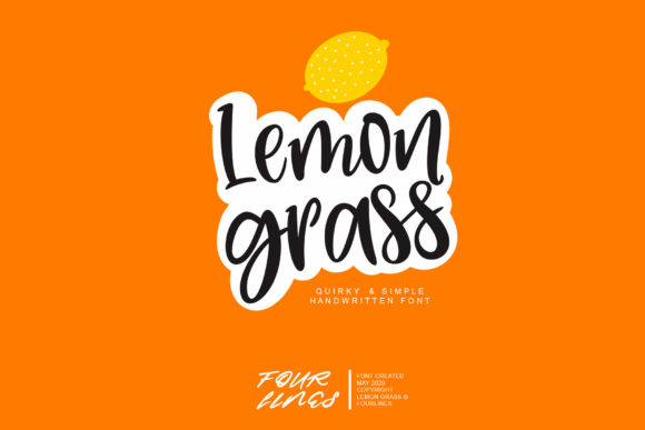 Print on Demand: Lemon Grass Script & Handwritten Font By Fourlines.design