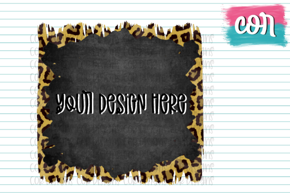 Print on Demand: Leopard & Chalkboard Brush Strokes Graphic Crafts By designscor