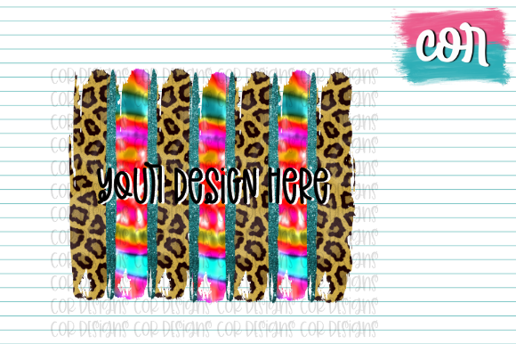 Print on Demand: Leopard & Tie-Dye Brush Strokes Graphic Crafts By designscor
