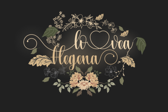Print on Demand: Lovea Hegena Script & Handwritten Font By Prast Art