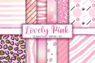 Print on Demand: Lovely Pink Background Digital Papers Graphic Backgrounds By PinkPearly