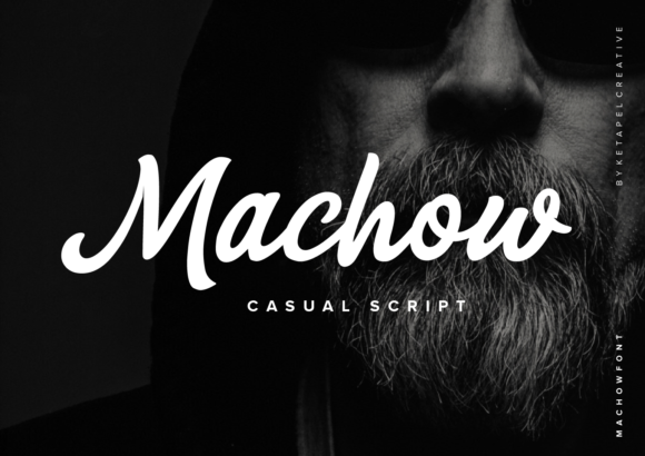 Print on Demand: Machow Script & Handwritten Font By ketapelcreative