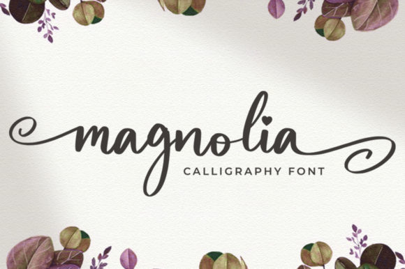Print on Demand: Magnolia Script & Handwritten Font By vultype