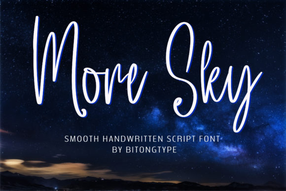 Print on Demand: More Sky Script & Handwritten Font By BitongType - Image 1