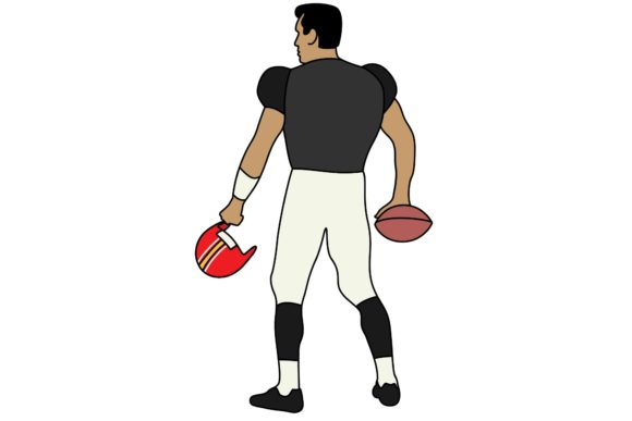 Print on Demand: NFL Football Player 2 Graphic Crafts By studioisamu