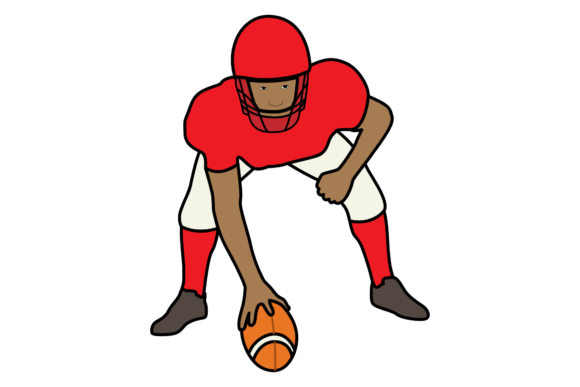 Print on Demand: NFL Football Player Stance Graphic Illustrations By studioisamu