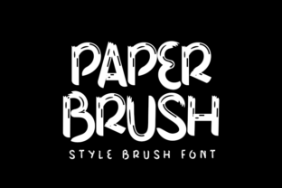 Print on Demand: Paper Brush Display Font By Inermedia STUDIO
