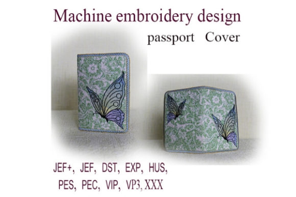 Passport Cover in the Hoop - Butterfly Embroidery