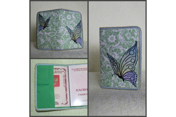 Passport Cover in the Hoop - Butterfly Embroidery Download