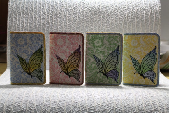Passport Cover in the Hoop - Butterfly Embroidery Item