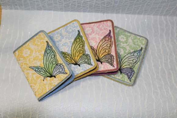 Passport Cover in the Hoop - Butterfly Embroidery Design