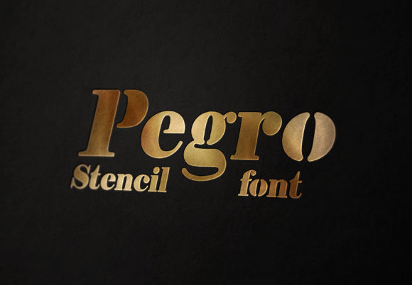 Print on Demand: Pegro Stencil Serif Font By Eva Barabasne Olasz