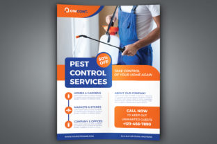 Print on Demand: Pest Control Services Flyer Template Graphic Print Templates By OWPictures