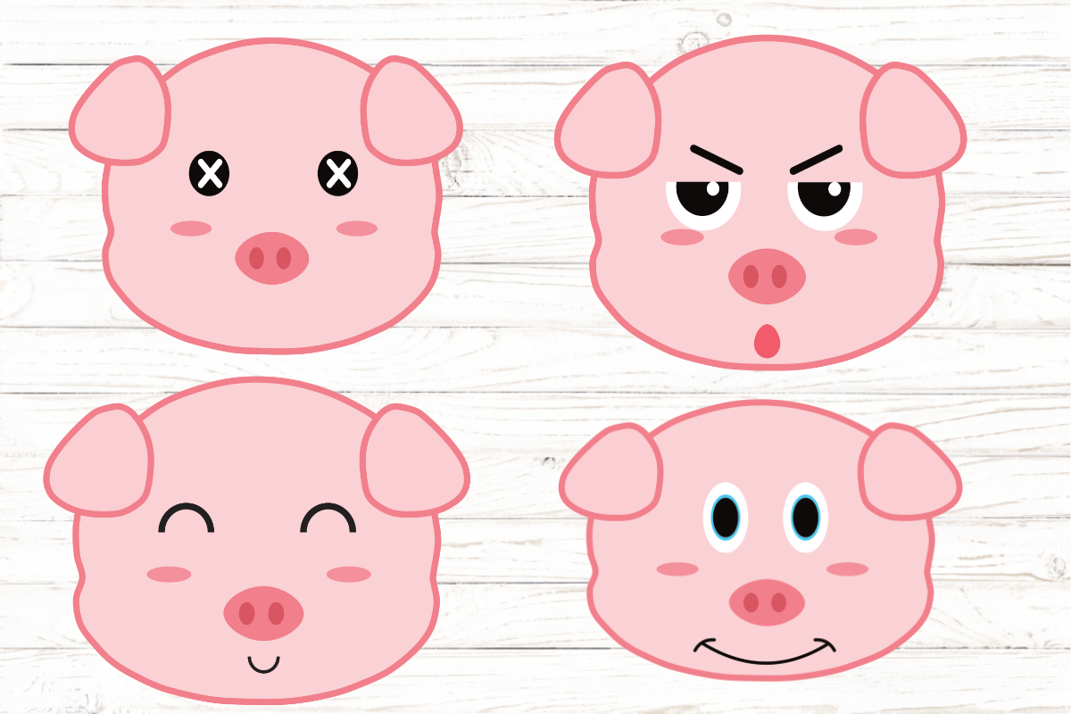 Pigs Kawaii Pig Cute Pig Cartoon Graphic By Rayan Creative Fabrica