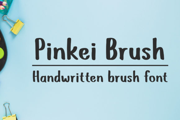 Print on Demand: Pinkei Brush Script & Handwritten Font By Dasagani