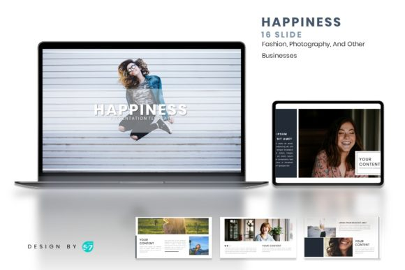 Powerpoint Template - Happiness Graphic Presentation Templates By maju57creative