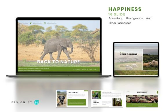 Powerpoint Template - Nature Graphic Presentation Templates By maju57creative