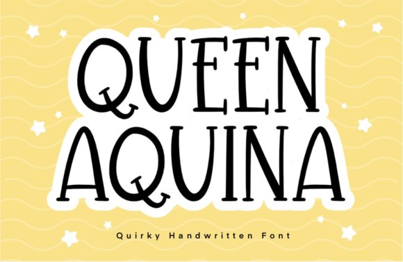 Print on Demand: Queen Aquina Display Fuente Por Typefar