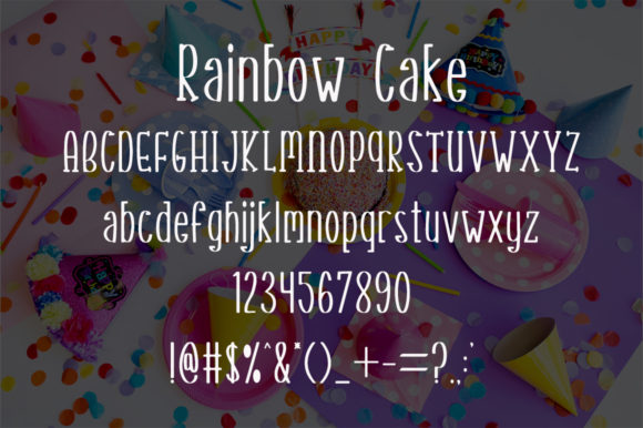 Print on Demand: Rainbow Cake Script & Handwritten Font By rangkaiaksara - Image 5