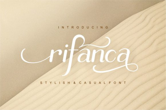Print on Demand: Rifanca Script & Handwritten Font By yunitaecy