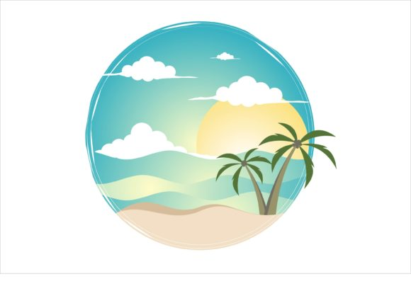 Print on Demand: Romantic Beach, Tour and Travel Graphic Illustrations By edywiyonopp