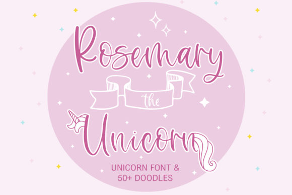 Print on Demand: Rosemary the Unicorn Script & Handwritten Font By freelingdesignhouse