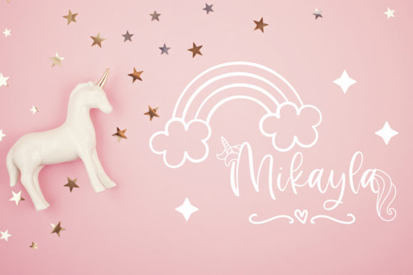 Rosemary the Unicorn Font Image