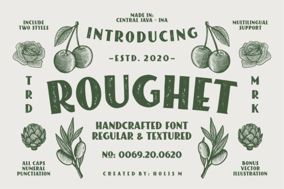 Print on Demand: Roughet Display Font By 24Design Studios