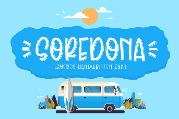 Print on Demand: Soredona Display Font By Abodaniel