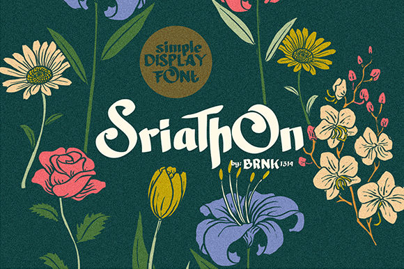 Print on Demand: Sriathon Display Font By brnk1314