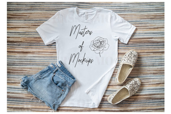 Stylish Fashion T-Shirt Mockup Flat Lay Graphic Product Mockups By Masters of Mockups