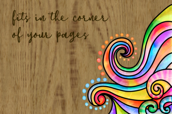 Print on Demand: Swirly Doodle Watercolor Ink Borders Graphic Backgrounds By Prawny - Image 3