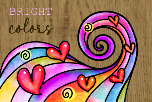 Print on Demand: Swirly Doodle Watercolor Ink Borders Graphic Backgrounds By Prawny - Image 4