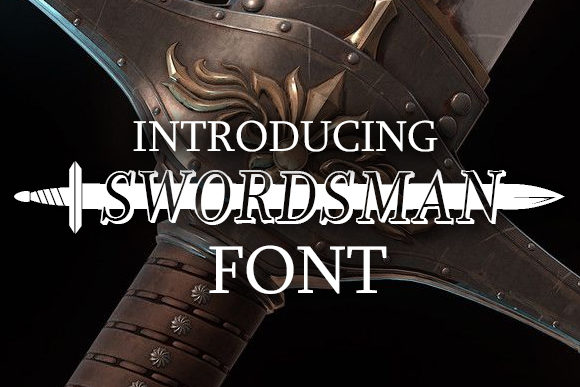 Print on Demand: Swordsman Display Font By vladimirnikolic