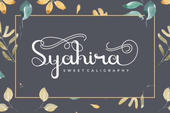 Print on Demand: Syahira Script & Handwritten Font By yunitaecy