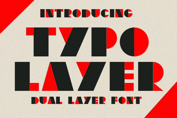 Print on Demand: Typo Layer Display Font By vladimirnikolic