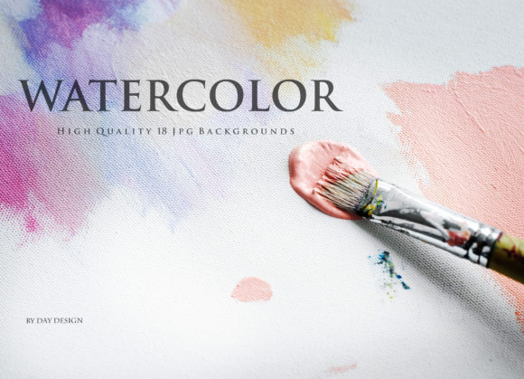 Watercolor Background Rose Graphic Backgrounds By DAYDESIGN