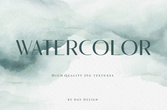 Watercolor Backgrounds Blue Graphic Backgrounds By DAYDESIGN