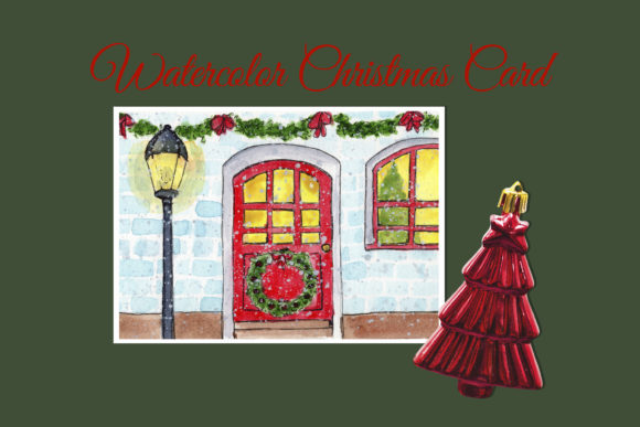 Print on Demand: Watercolor Christmas Card Graphic Illustrations By s.yanyeva